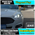 AUTO.PRO headlights for ford mondeo 2013-2015 led light bar DRL Q5 bi xenon lens led high beam H7 xenon head lamps For mondeo