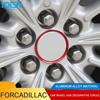 Car Styling 4PCS Alloy Rim Sticker Ring Wheel Hub Center Decoration Blue Red Yellow Black