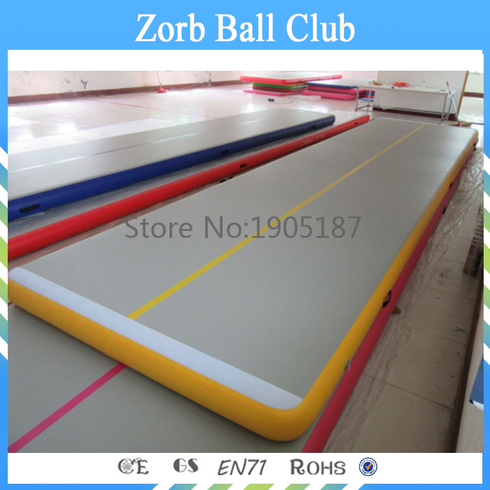 Free Shipping 10x2m Commercial High Quality Yellow Tumble Track Inflatable Air Mat For Gymnastics On Sale hot sale inflatable air tumble track gymnastics for sale