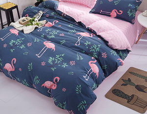 Image 2 - 1PCS Duvet Cover 200*200 Bedding Quilt Blanket Comforter Cover Printing Single Double Queen King Customized 140*200cm flamingo