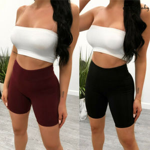 Women High Waist Stretch Biker Shorts Workout Yogawear Fitness Sports Pantalones Cortos Mujer Spodenki Bottom