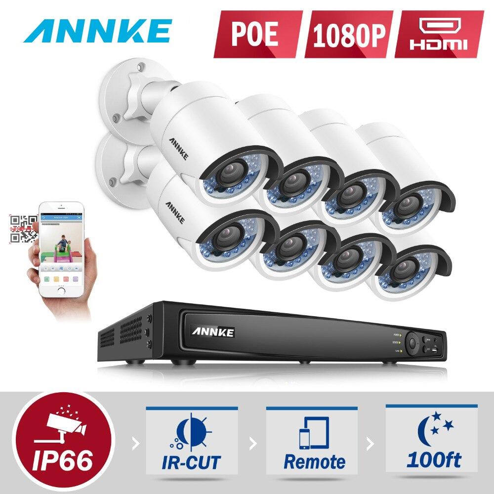 ANNKE HD 6MP 8CH POE NVR 8 stücke Super HD 2MP IP Kamera Netzwerk Outdoor Infrarot Nachtsicht CCTV Hause sicherheit Cam System Onvif