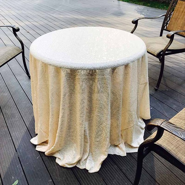 33u0027u0027 80cm Decor Sequin Tablecloth Round Gold Table Cover For Wedding Event  Party Banquet