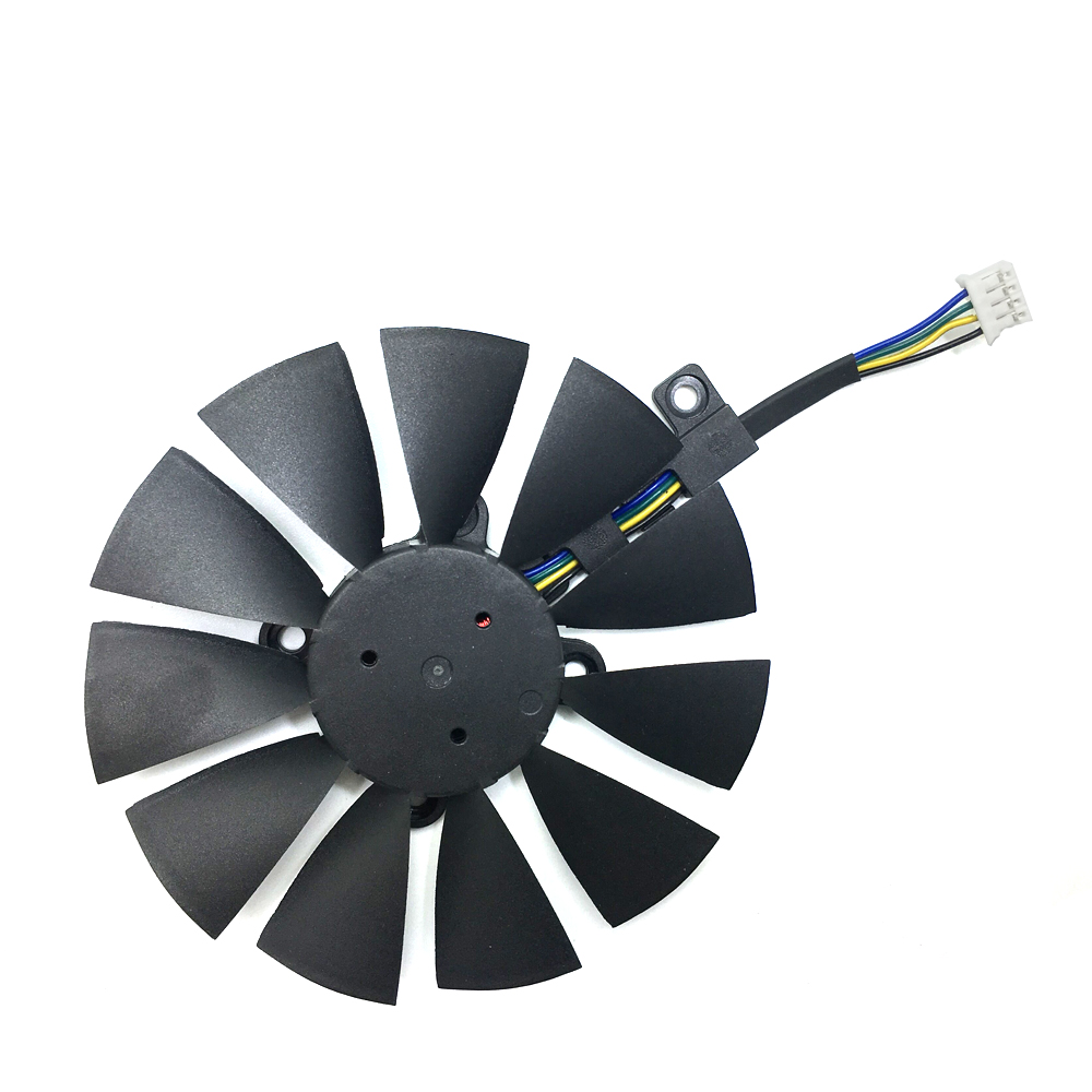 Image 2 - New 87mm T129215SU Fan For ASUS GTX1060 1070 Ti RX 470 570 580 Graphics Card  PC Cooling DC 12V GPU Cooing video card coolerrs-in Laptop Cooling Pads from Computer & Office
