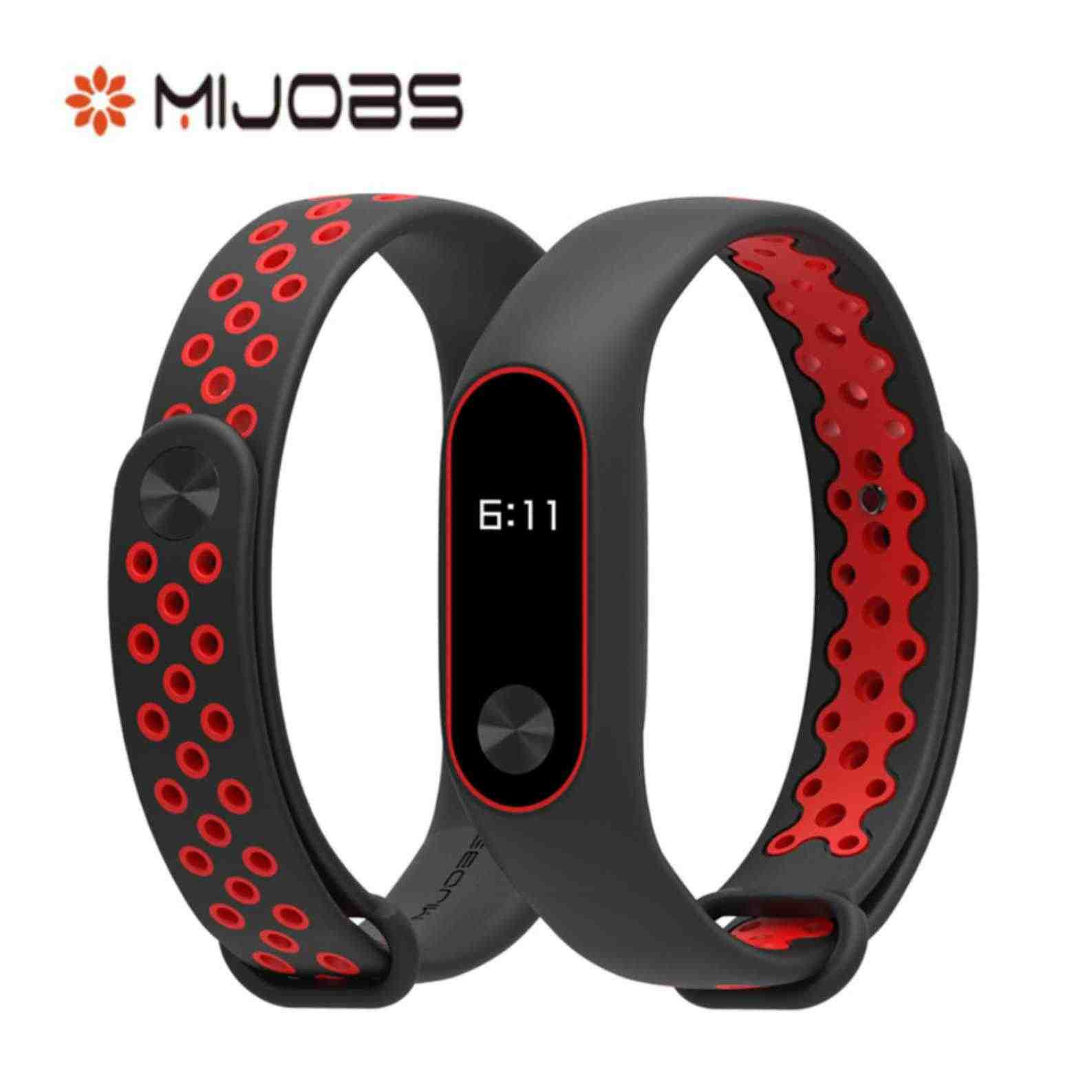 Original Mijobs for Xiaomi Mi Band 2 Strap Belt Silicon Replacement Wristbands Accessories for Mi Band 2 in Stock