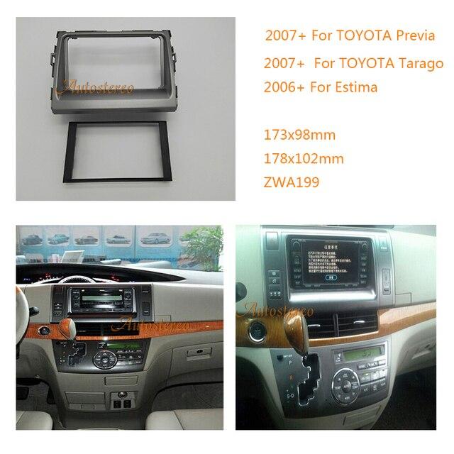 Car Stereo Radio Fascia Panel For Toyota Previa Tarago Estima Stereo