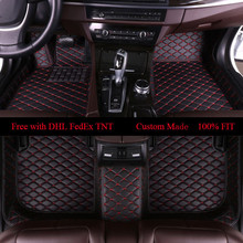 цена на OLPAY Mat Leather Car Floor Mats For Audi Q7 2006 2007-2013 2014 2015 2016 2017 2018 Custom Auto Foot Pad Carpet Cover