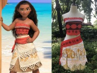 Movie Princess Moana Costume For Kids Moana Princess Dress Cosplay Costume Children Halloween Costume For Girls