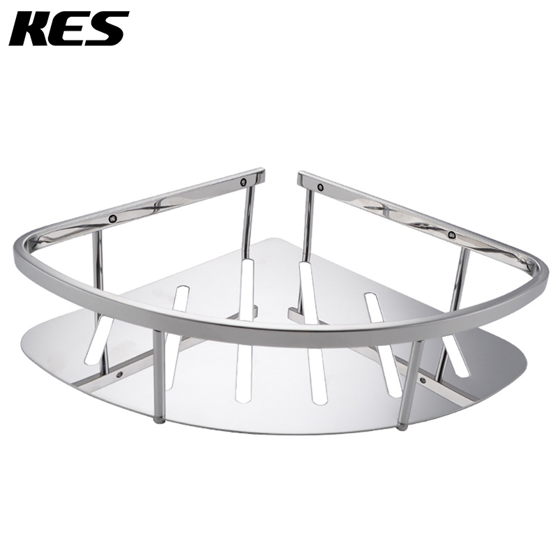 Kes A2220a Bathroom Corner Triangular Tub And Shower Caddy Basket Polished Stainless Steel In