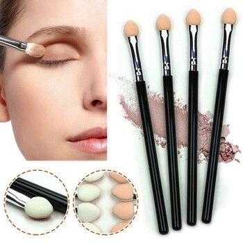 1 Pcs Eyeshadow Sponge Brush Stick Portable Eye Shadow Eyeliner Eyebrow Lip Brush Applicator Eyes Makeup Cosmetic