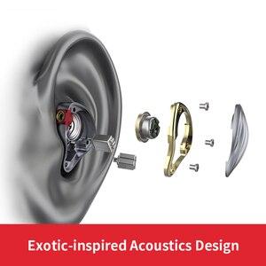 Image 2 - FiiO FH5 auriculares híbridos HIFI con carcasa de Metal, Cable desmontable, diseño MMCX, controlador cuádruple, 3,5mm, para iOS y ordenador Android PC