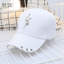 New solid color tricyclic star hat men and women couple models outdoor sun visor cap autumn snapback caps(China)