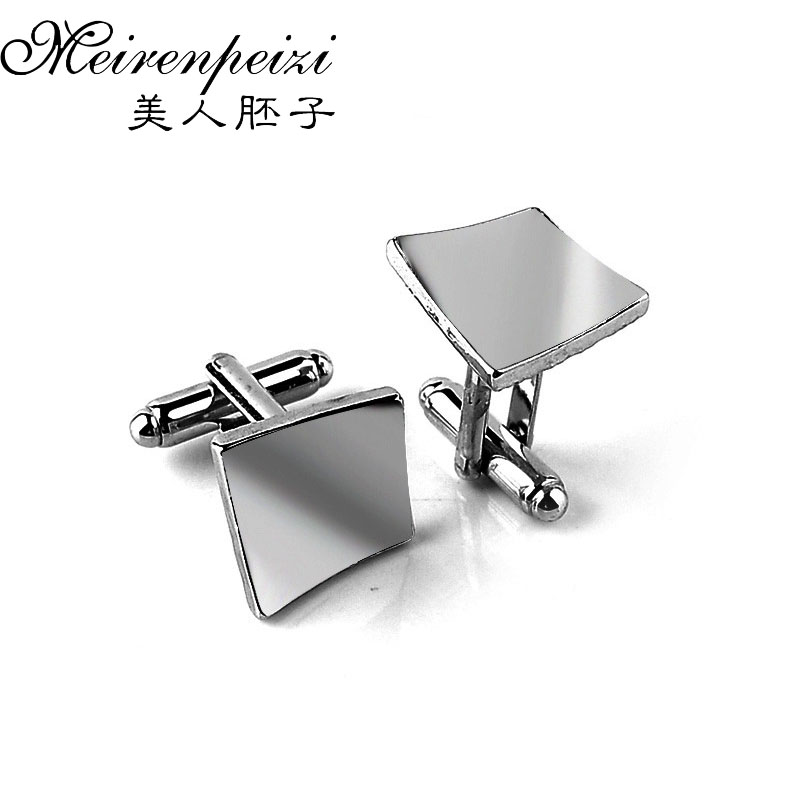 Vintage French Shirt Cufflinks Laser Engraving Men Jewelry Unique Wedding Groom Men Square Cuff Links Business Silver Cufflinks Детская кроватка