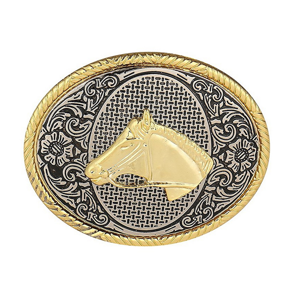 Mens' Belt Buckle Horse Print Belt Buckle For Men Carpenter Mechanic Cowboy And Cowgirl Metal Tool Western Buckles