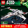 LEPIN NUEVO 05039 1586 unids Star Wars Rojo Cinco x-wing Starfighter Compatible 10240