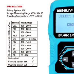 Image 5 - 12V Automotive Vehicle Car Battery Tester 3 in 1 Multifunction Check Meter Digital Analyzer Diagnostic ALL SUN EM571