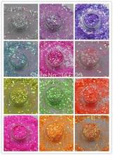 "TCT 098 Pearlescent ססגוני גודל 2 מ""מ צבעים גליטר אמנות קישוט בהיר עבור ציפורניים עיצוב ציפורניים DIYglitter for decorationglitter glitternail art glitter decorations"