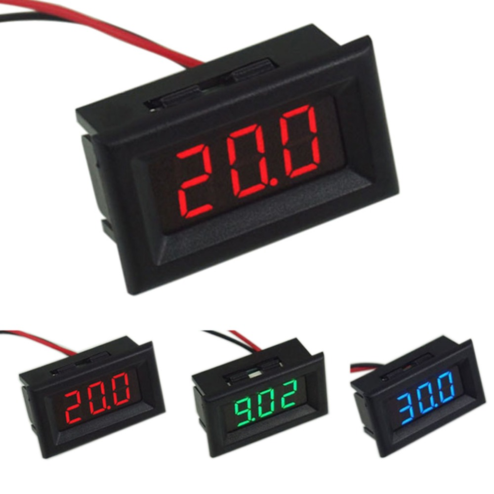 Digital Voltmeter Two Wires LED Display Blue DC2.5-30V Digital Panel Voltage Meter Voltage Detector Monitor