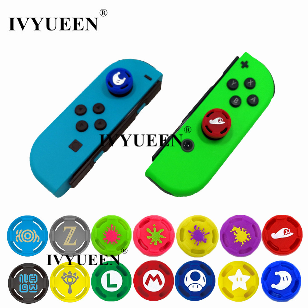 Ivyueen 2 Pcs Silicone Analog Thumb Stick Grips Caps For Nintend Switch Ns Joycon Controller Sticks Cap Skin For Joy Con Cover #1