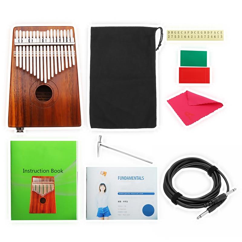 Haute qualité 17 touches planche complète bois doigt Kalimba clavier pouce poche Piano à cordes clavier Instruments