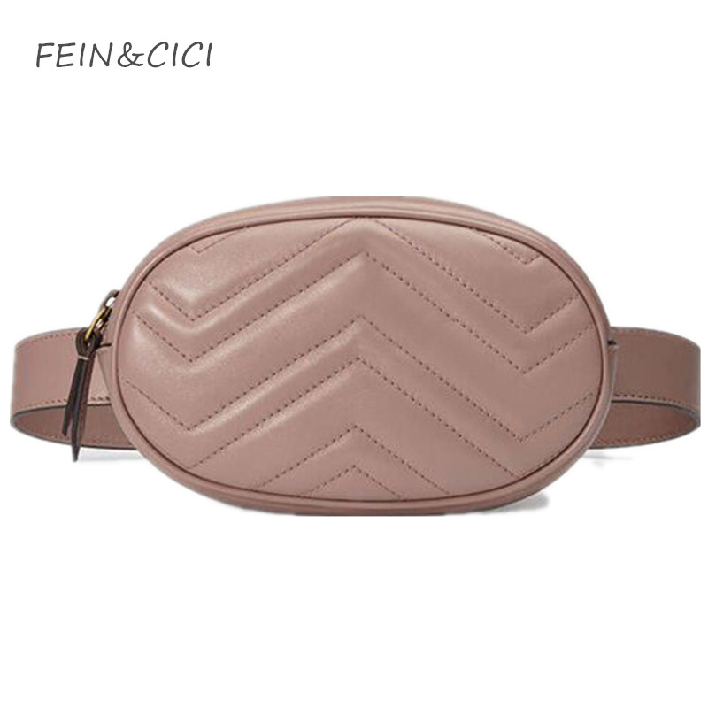 belt bag waist bag round fanny Pack women luxury brand leather handbag red black beige 2018 summer hight quality drop shipping