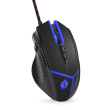 Topmate M18 Wired Gaming Mouse 4000DPI High Precision Programmable Ergonomic Mice On The Fly DPI Shifting