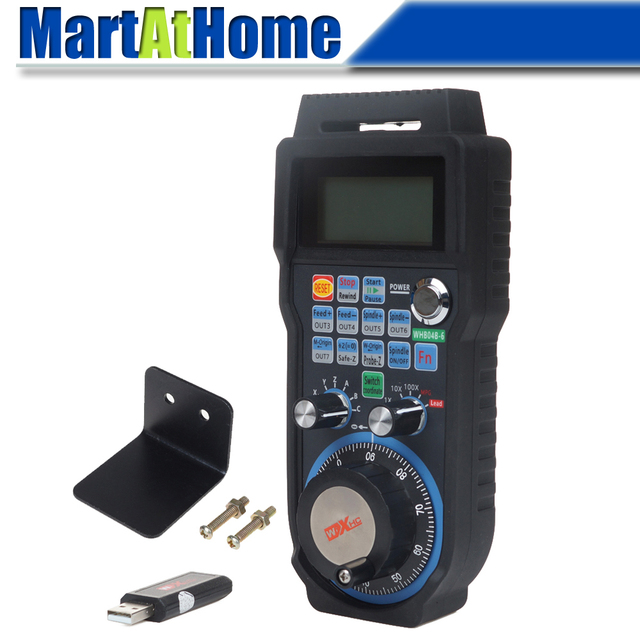 CNC 6 Axis Wireless Mach3 MPG Pendant Handwheel Controller for CNC Machine lathe #SM732 @SD