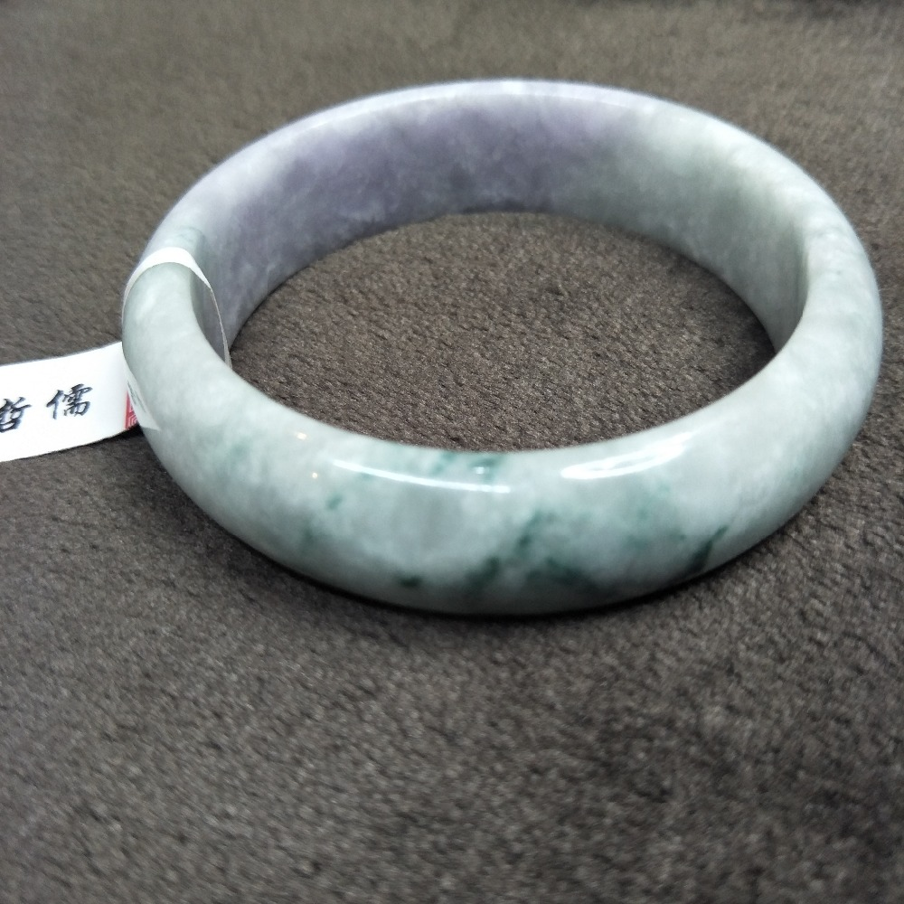 Zheru Jewelry Pure Natural Jadeite Bracelet Natural Elegant Light Purple Bicolor 54-61mm Gift Class A National CertificateZheru Jewelry Pure Natural Jadeite Bracelet Natural Elegant Light Purple Bicolor 54-61mm Gift Class A National Certificate
