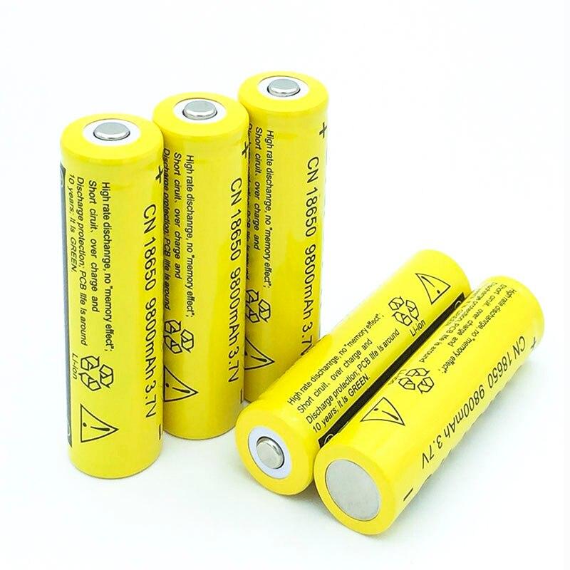 MICKTICK 18650 Bateria 9800 mAh 3 7 V 18650 Bateria Recarregável Li-ion  Bateria De Lítio Bateria De Lítio para Lanterna LED Torch