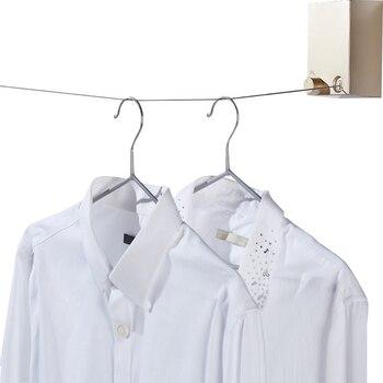 Выдвижная домашняя вешалка для одежды, волшебная сушилка для ванной комнаты, невидимая веревка H99F