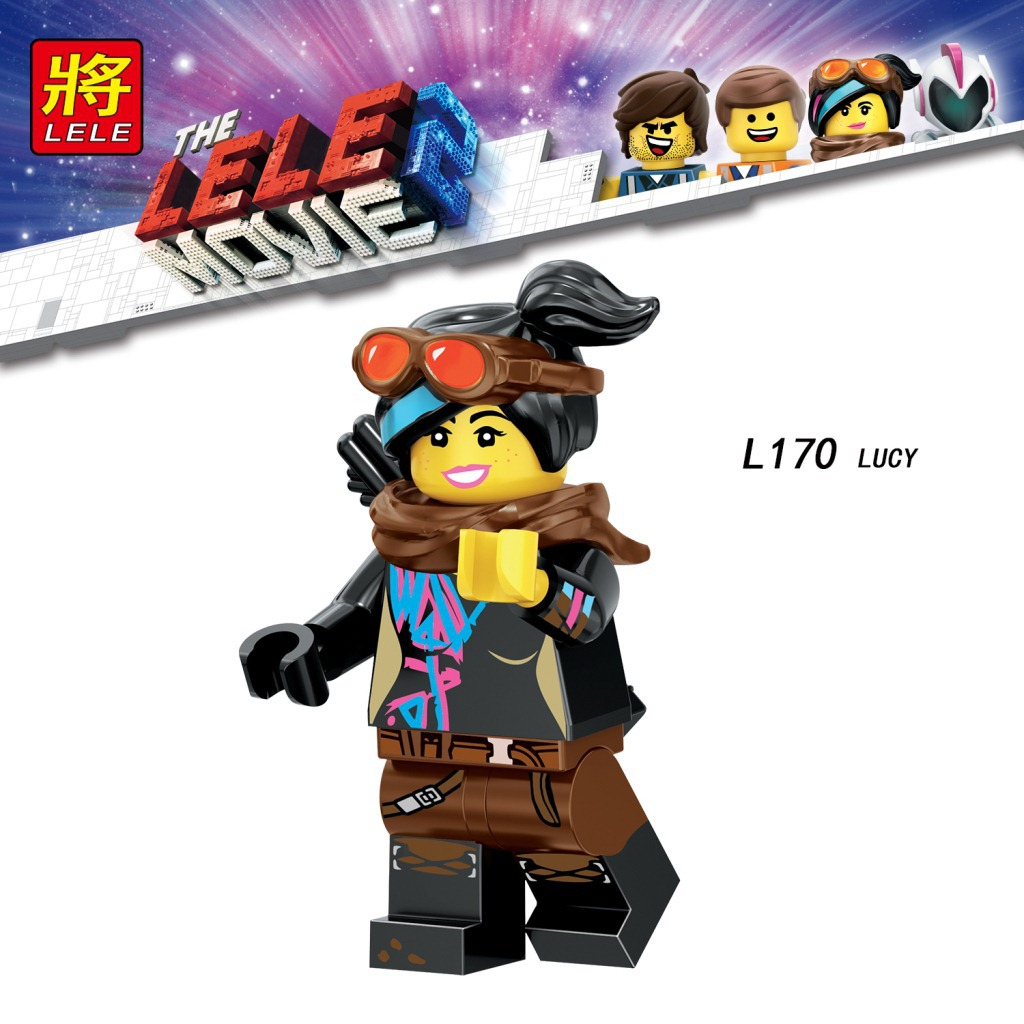 Single Sale Legoinglys Movie 2 Anime Emmet Lucy Rex Zebe Disco Kitty Tempo Sharkira Metalbeard Building Blocks Kid Toys Gifts