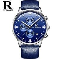 ספורט יוקרה חדש שעוני גברים עמיד למים R לצפות שעון מותג זכר עור masculino relogio שעון קוורץ הצבאי Hodinky
