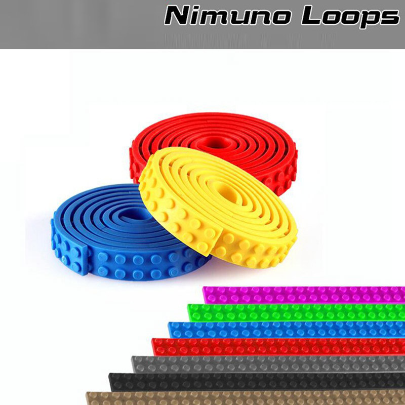 1M 4pcs 2x32 Dots Small Nimuno Loops Plastic Tape Blocks Base Plate Building Blocks DIY Baseplate no Sticky Backing  1m 2x32 dots small nimuno loops plastic tape blocks base plate 1pcs building blocks diy baseplate compatible with lepin
