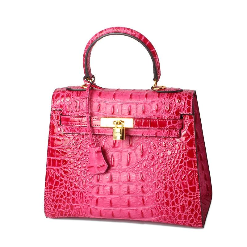 все цены на 2017 Vintage Women Lady Luxury Designer Genuine Leather Alligator Lock Cowhide Handbags Handbag Flap Shoulder Bag Messenger Bags в интернете
