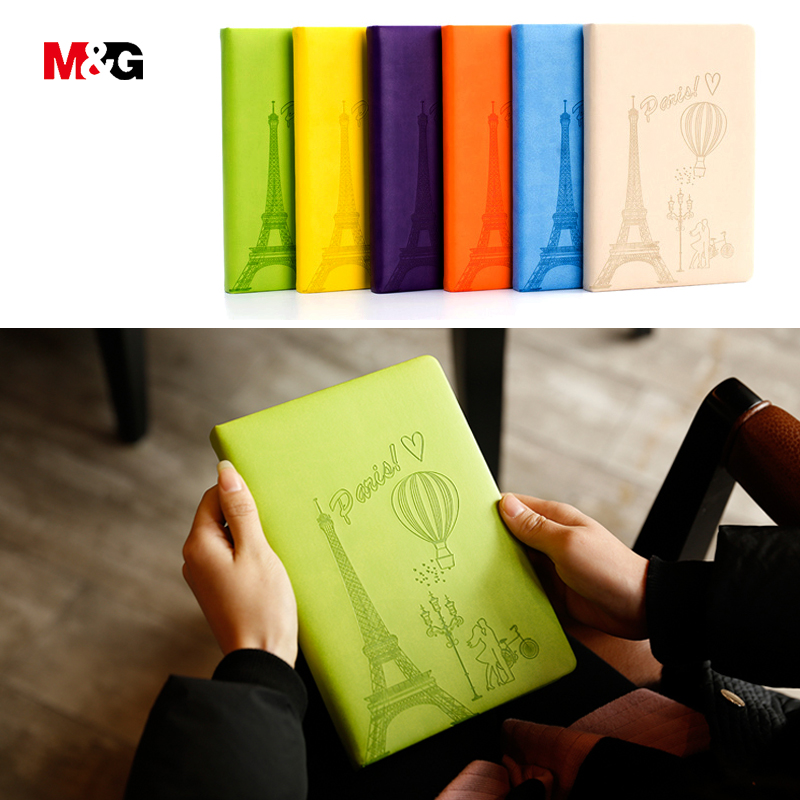 M&G custom made 7colored printed diary notebooks for school stationery office supplies cute weekly planner notepads travel books