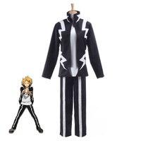 Boku no Hero Academia Anime Cosplay My Hero Academia Kaminari Denki Cosplay Costume School Uniform Men Women Battle Costume