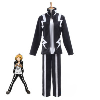 Boku no Hero Academia Anime Cosplay My Hero Academia Kaminari Denki Cosplay Costume School Uniform Men Women Battle Costume