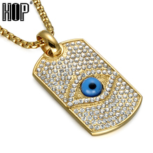 HIP Hop Iced Out Crystal Illuminati Pyramid Eye Necklaces Pendant Bling Gold Color Titanium Dog Tag Necklace For Men Jewelry светильник illuminati terrene md13003023 7a gold