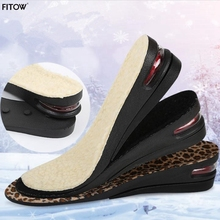 3 Color Winter Thermal Insole 2 Layers Adjustable Hidden Height Increasing Shoe Insoles for Keeping Warm