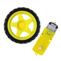 Deceleration DC Motor + Supporting Wheels/ Smart Car Chassis Motor/Robot Car Wheels