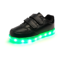 Eur 25-30 Kids Sports Sneakers 2016 Spring Charging Luminous Lighted Colorful LED Lights Children Sports Shoes AG05