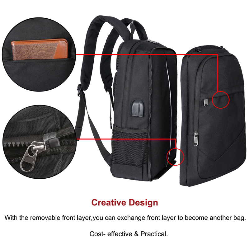 Laptop Backpack Men with Football Net Student College Backpack Bag Rucksack for Boys Girls with USB Charging Port Casual Daypack