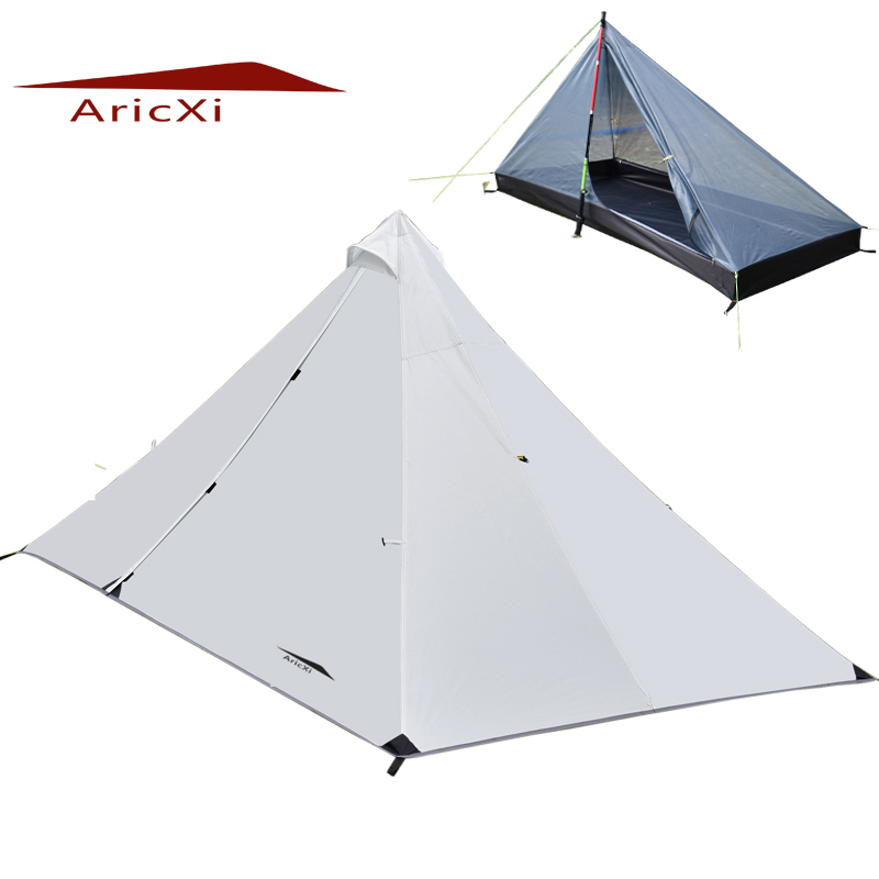 ARICXI Outdoor Ultralight Camping Tent 4 Season 1 Single Person Professional  Rodless Tent high quality outdoor 2 person camping tent double layer aluminum rod ultralight tent with snow skirt oneroad windsnow 2 plus