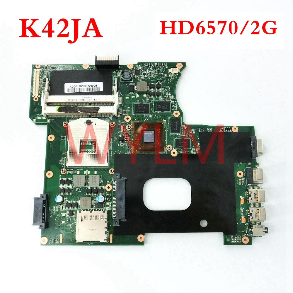 K42JA HD6570 2GB mainboard REV2.0 For ASUS A42J K42J X42J A40J K42JA Laptop notebook motherboard Tested Working free shipping m50s mainboard for asus m50s m50sv laptop notebook motherboard pm965 ddr2 tested working well free shipping