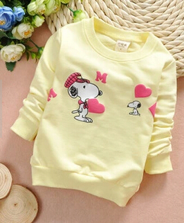 (1piece /lot) 100% cotton 2015 Cute baby dog baby outerwear