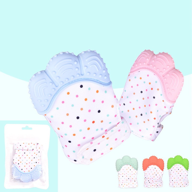 Silicone Teether Baby Pacifier Glove Baby Teething Chewable