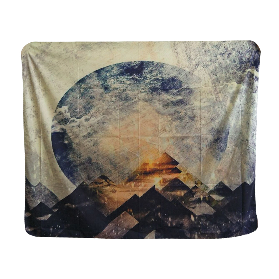 papa mima beautiful galaxy romantic print india thailand wall tapestry polyester 148x130cm. Black Bedroom Furniture Sets. Home Design Ideas