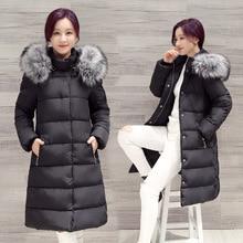 Winter Warm down costume for women Hooded cotton Jackets coat Female Faux Fur Warm Long Parkas Women Thick Wadded Jacket Coats