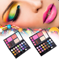 Olhos maquiagem da Paleta da sombra Profissional 1 Conjunto de Sombra + Blush + Foundation Makeup Palette Make Up Kit Y2