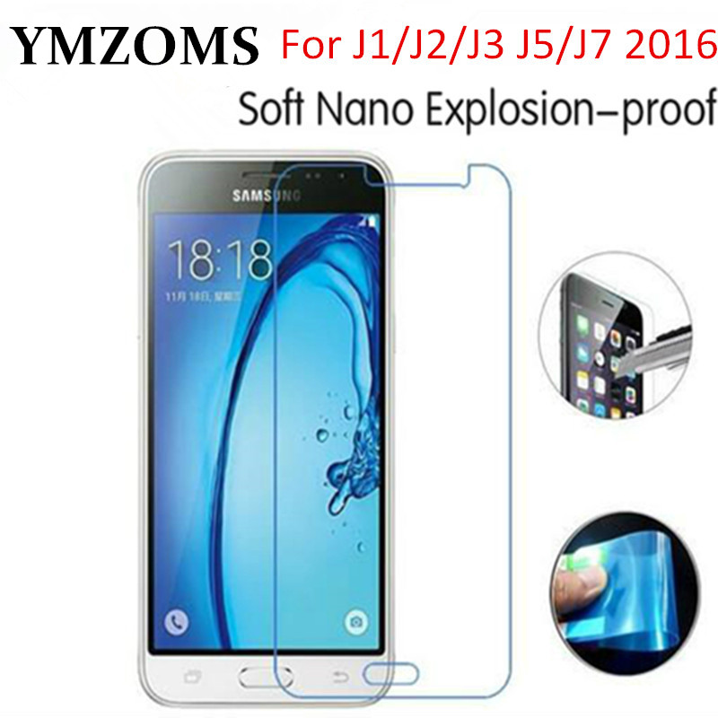 2X Nano Explosion-proof Soft Protective Film Cover Foil For Samsung Galaxy J1 J2 J3 J5 J7 2016 Screen Protector+Clean Kits